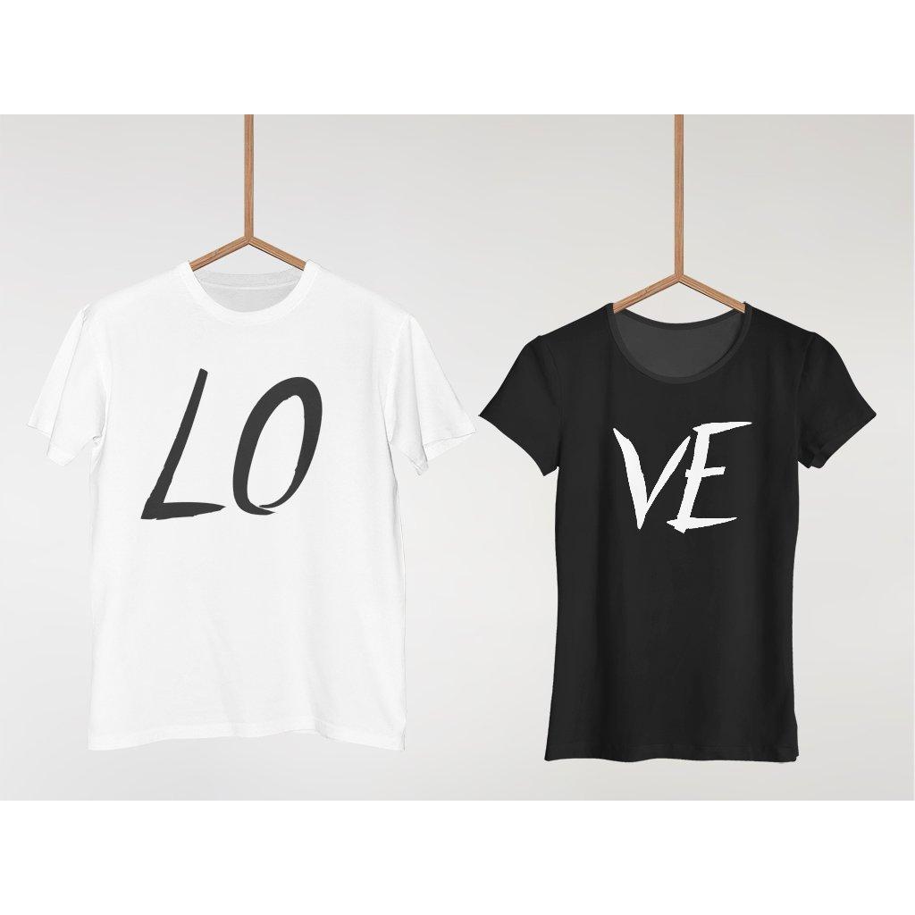 02bea7b3e7 Párová trička Love (cena za obě trička) - Booya.cz