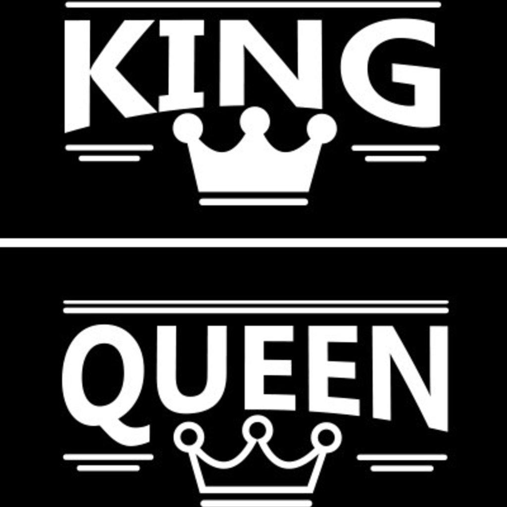 Trička KING   QUEEN černé nebo bílé (cena za obě trička) - Booya.cz 459fecd2e9