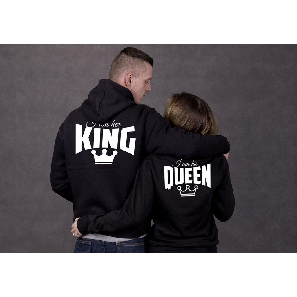 Mikiny HIS QUEEN   HER KING černé nebo šedé (cena za obě mikiny ... 80f25d9c91f