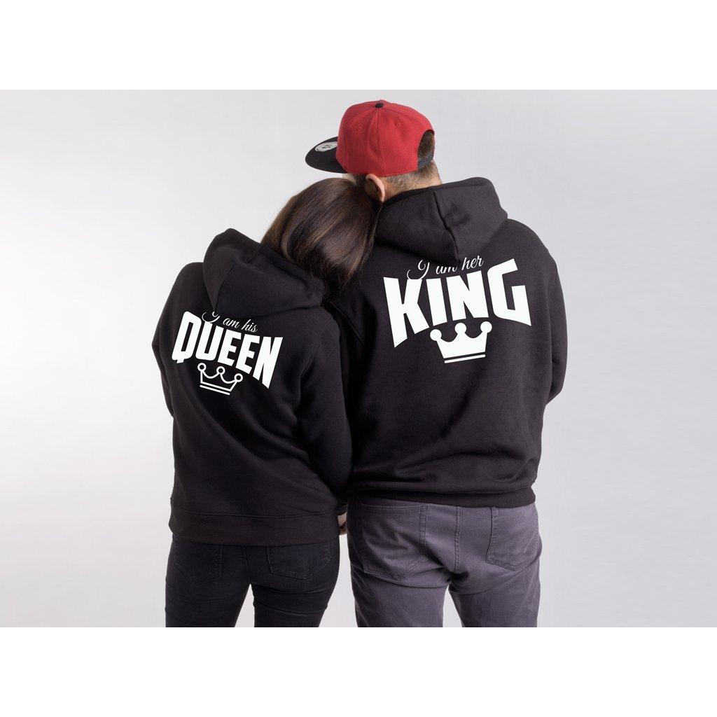 cc3c28058 Mikiny HIS QUEEN & HER KING černé nebo šedé (cena za obě mikiny ...